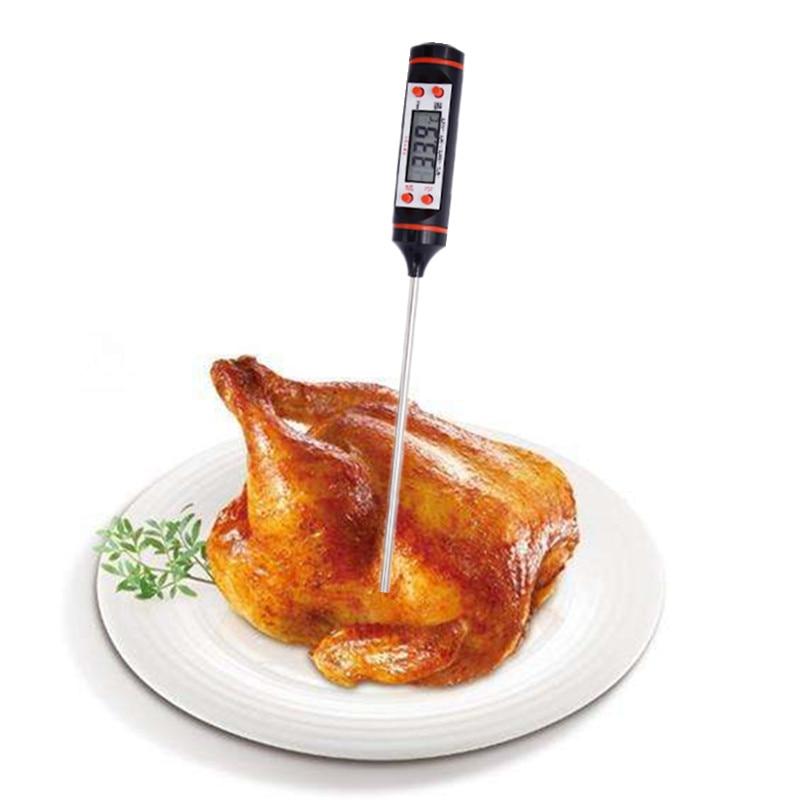 Digitális konyhai hőmérő BBQ elektronikus főzéshez Ételszonda - Mérőműszerek - Fénykép 6