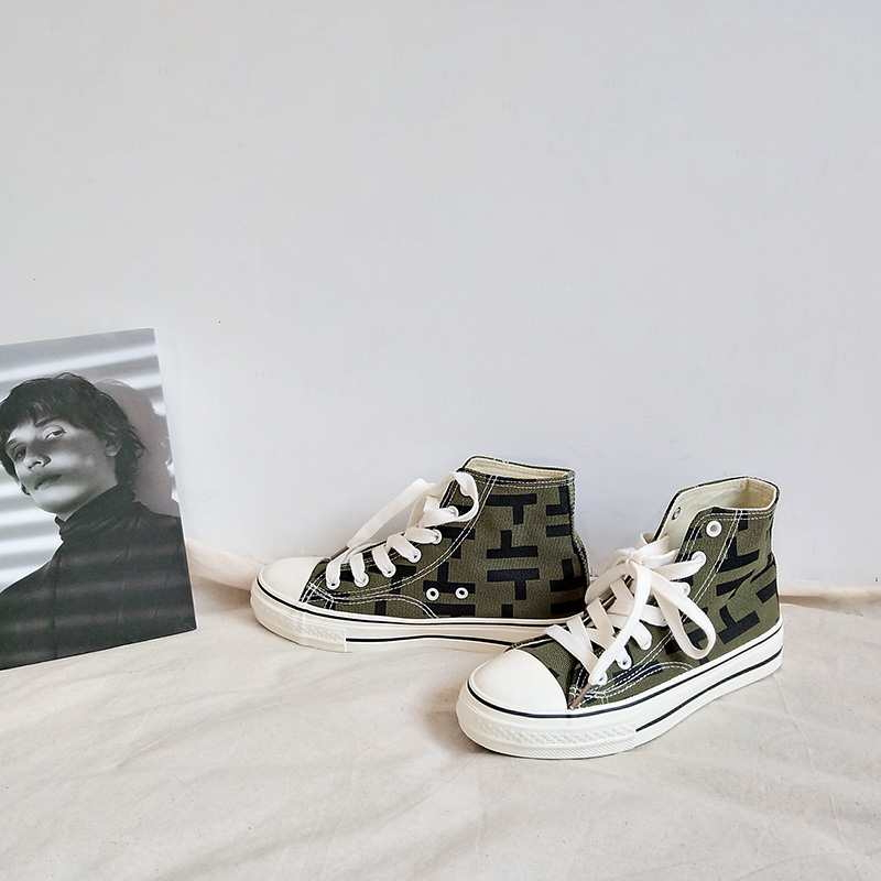 Canvas Shoes Feminino Tenis High-Top Women Lace-Up Girls New-Arrival Size-35-39