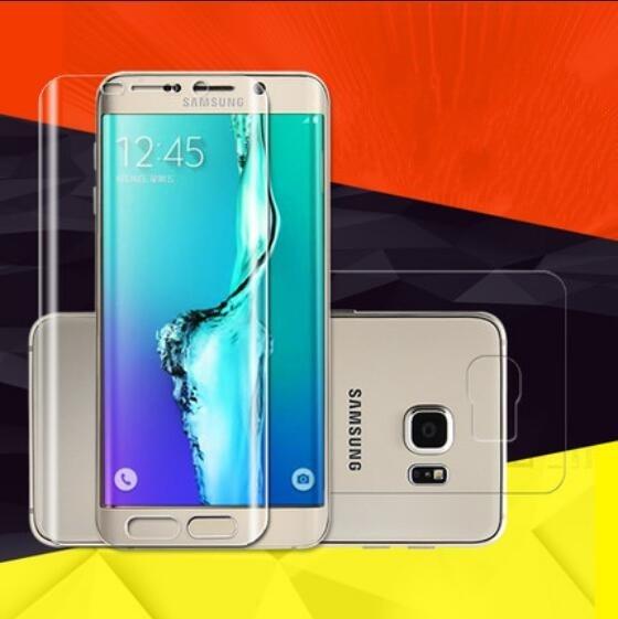 Mjuk skärmskydd framtill bak för Samsung Galaxy S9 S8 Plus S7 kant - Reservdelar och tillbehör för mobiltelefoner - Foto 2