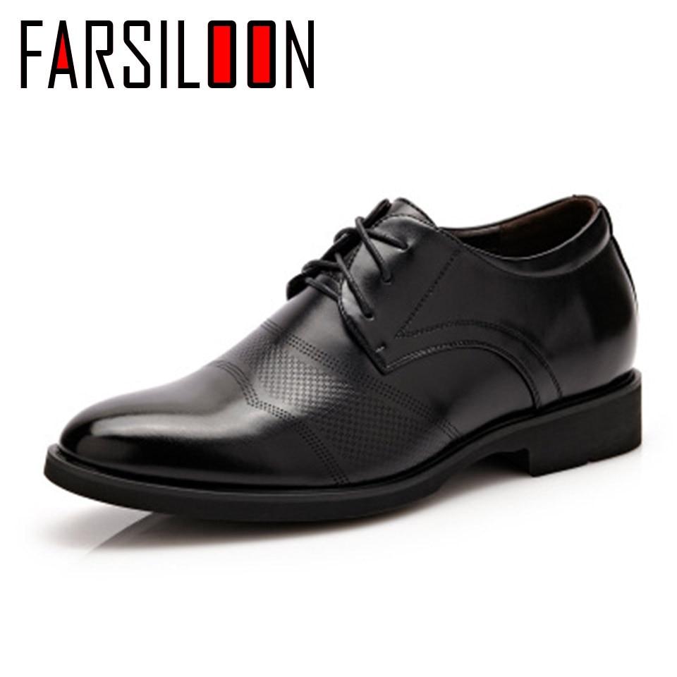 Ol021 Hommes Surélévation De Chaussures Souple Étanche Automne D'affaires Confortable Solide Casual Mâle Robe 80kwnOP