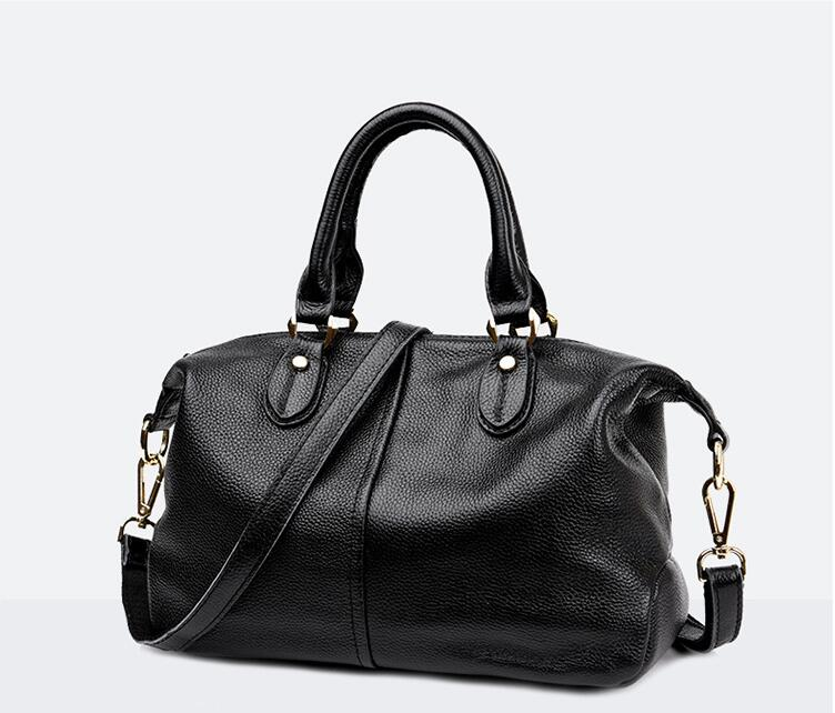 2018 first layer of cowhide big capacity women's working style handbag genuine leather lady's shoulder bag high quality tote bag
