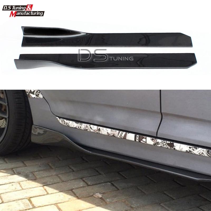 Universale Carbon Fiber Side Gonna Extension Design Per Mercedes W176 W117 BMW F10 F30 Audi A4 A5 Volkswagen Golf MK7 ecc