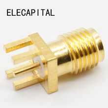 2017 Hot End Launch PCB Mount SMA Female Plug Straight RF connector Adapter 5pcs