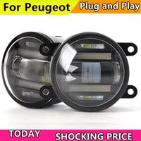 Car Styling Fog Lamp for Peugeot 206 207 208 2008 301 307 308 3008 408 508 LED Fog Light Auto Fog Lamp with DRL