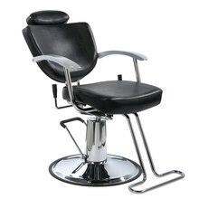 Wondrous New Black Fashion All Purpose Hydraulic Recline Barber Salon Theyellowbook Wood Chair Design Ideas Theyellowbookinfo