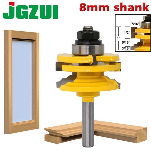 1 Pc 8mm Schaft Glas Tür Schiene & Stile Reversible Router Bit Holz Schneiden Werkzeug holzbearbeitung router bits