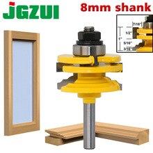 1 Pc 8mm Shank זכוכית דלת רכבת & Stile הפיך נתב קצת עץ חיתוך כלי נגרות נתב bits