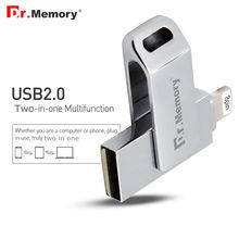 Доктор Памяти OTG USB Flash Drive 128 ГБ флэш-ДИСК Мфо металлическая ручка привода 16 ГБ u диск 64 ГБ для apple ios10 iphone 6s 7 usb flash 32 ГБ