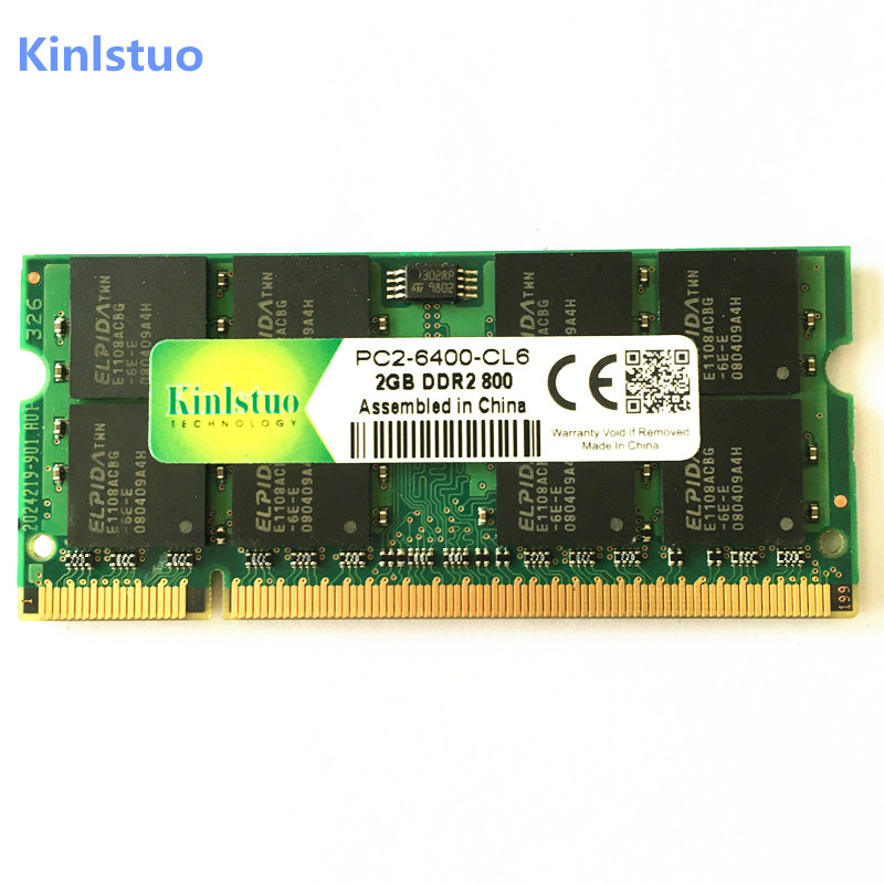 Kinlstuo New Sealed <font><b>DDR2</b></font> 2GB 800MHz PC2-6400S for intel for amd DDR 2 2G 800 <font><b>notebook</b></font> memory Laptop <font><b>RAM</b></font> 200PIN SODIMM image