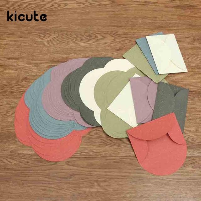 kicute 10pcs retro vintage colorful colored blank mini paper