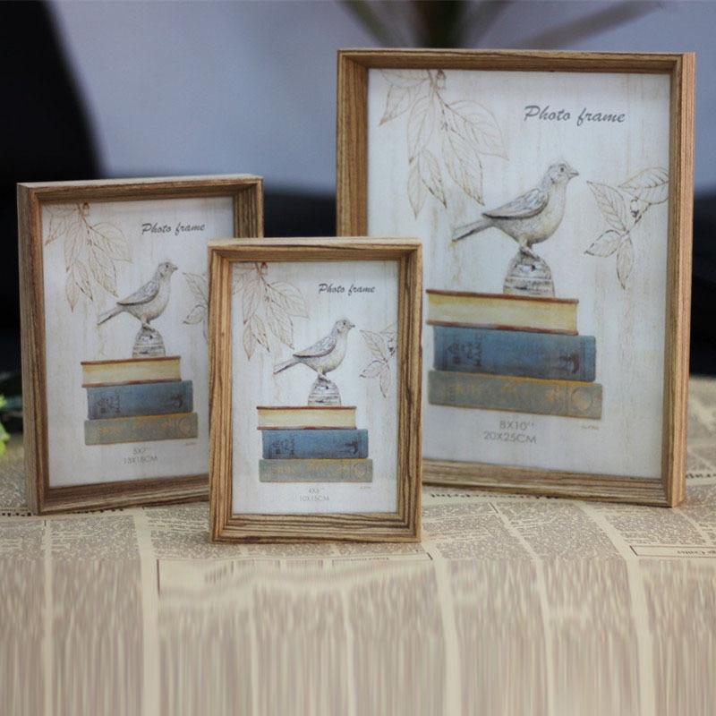 Vintage Wooden Photo Frame Poet Book Natural Colour Picture Frames ...