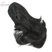 StrongBeauty 20 Color 12″ Dual Use Straight Styled Clip In Claw Ponytail Hair Extension Synthetic Hairpiece  with a jaw/claw cl