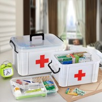 Ehbo-kit Geneeskunde Borst Familie Thuis Gezondheidszorg Drug Opbergdoos Kabinet