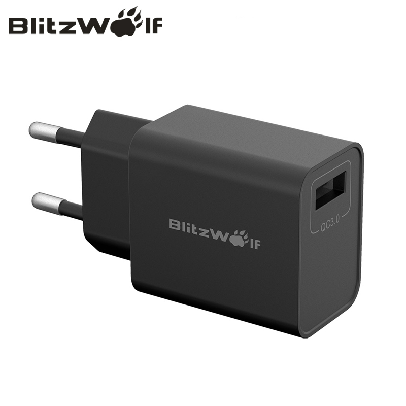 BlitzWolf BW-S9 18W USB Charger QC3.0 FCP AFC BC1.2 US/EU/AU/UK Plug Fast Charing Wall Charger For iPhone For Samsung For HuaweiBlitzWolf BW-S9 18W USB Charger QC3.0 FCP AFC BC1.2 US/EU/AU/UK Plug Fast Charing Wall Charger For iPhone For Samsung For Huawei