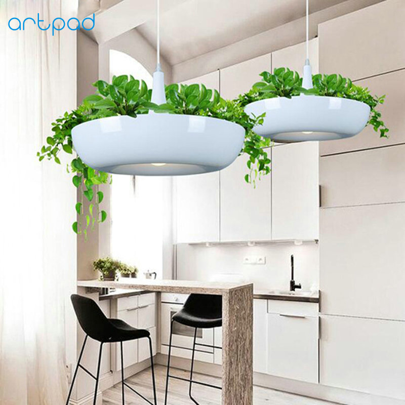 цены Artpad Nordic Babylon Plant Pendant Light AC90-260v E27 LED Living Room Garden Pendant Lamp for Dining Room Balcony Lighting