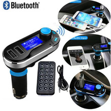 Newest Bluetooth Car Kit MP3 Player FM Transmitter SD LCD Dual USB Charger For iPhone 6 5S 5C