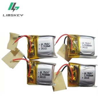 3.7v 100mAh 751517 for Cheerson Cx10 Cx-10 Cx10a Rechargeable Lipo Batteries Accessories for Mini Quadcopter Helicopter Drone 20