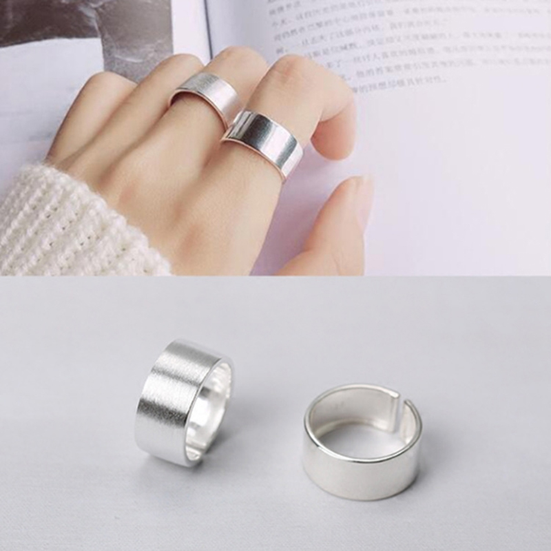 Bohemian Vintage Silver Color Shiny Punk Rings for Women Bijoux Fashion Adjustable Size Finger Rings Anillos Mujer 1