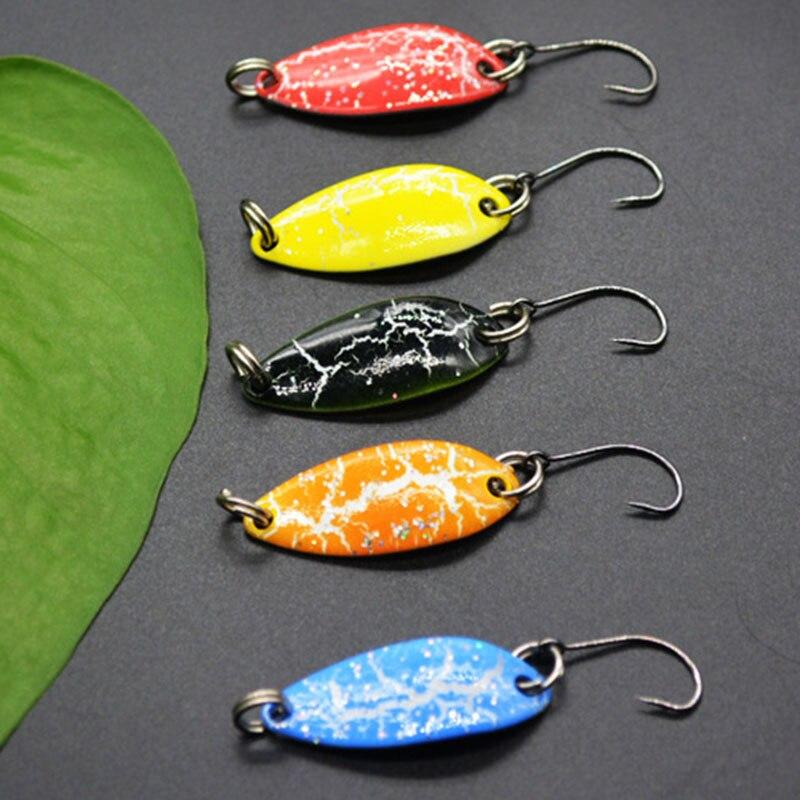 Details about  /5pcs mix colors 3cm 3g fish trout lure swim bait artificial pesca fish tackllo