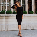 vestidos  Women Dress 2016 Long Sleeve Black Bodycon Autumn Dress cheap-clothes-china Sexy Winter Gray Club Party Office Dress