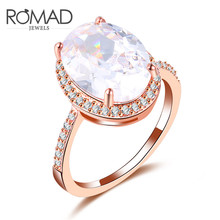 Classic Women Alone The Drill AAA Zircon Rings Accessories Rose Gold Color Size 7 8 9 for Women Wedding Engagement Bride Gift