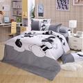 Blanco y negro Mickey Mouse 4 unids lecho Full / Queen / King Size hoja de cama / cama / sábanas / Duvet Cover set, envío gratis