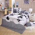 Preto e branco Mickey Mouse 4 pcs Bedding Set Full / Queen / King Size linho Set / cama lençol / roupas de cama / Set capa de edredão, Frete grátis