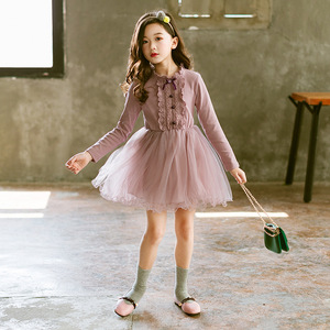Image 3 - New 2019 Teen Girls Dresses for Party and Wedding Long Sleeves Lace Princess Clothes Birthday Party Costumes Children Clothing