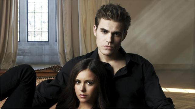 Popular American TV series The Vampire Diaries wallpaper 43*24inch HD quality fabric poster bedroom decoration free shipping