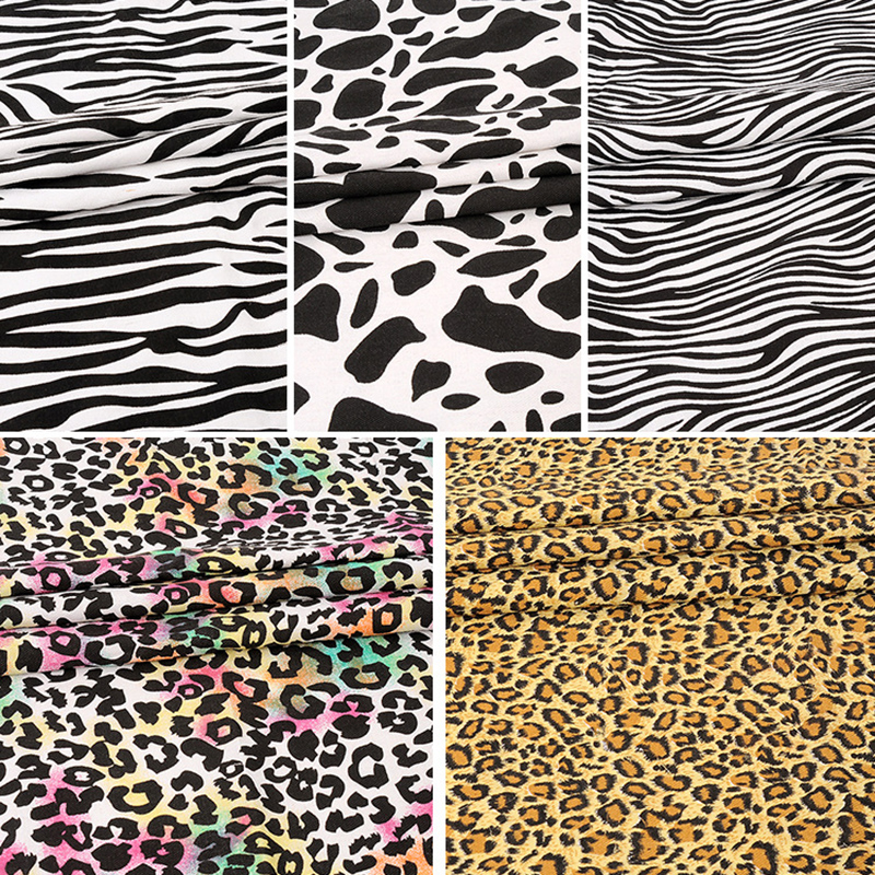 Leopard Print Fabric online shop 2yard cotton canvas leopard print fabric zebra-stripe