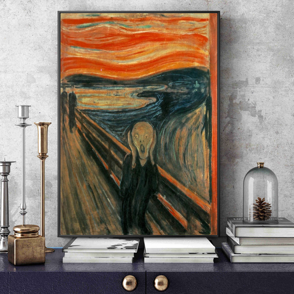 Edvard Munch The Scream Famous Canvas Art Paintings Reproductions Abstract Classical Scream Wall Posters Cuadros Home Decoration