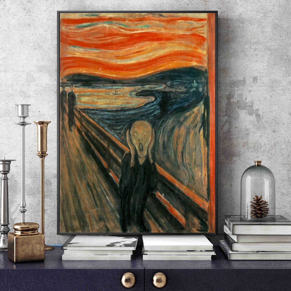 Munch Cuadros Edvard Munch The Scream Famous Canvas Art Paintings Reproductions Abstract Classical Scream Wall Posters Cuadros Home Decoration