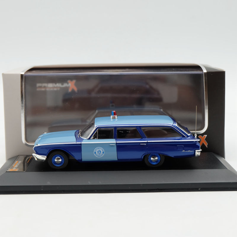 IXO Premium X 1:43 Ford Rach Wagon Massachusetts State Police 1960 PRD252 Limited Edition Collection Resin Auto Models ixo premium x 1 43 stutz blackhawk coupe 1971 red prd002 limited edition collection resin auto models