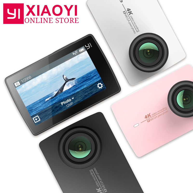 IN STOCK! New Original Xiaomi YI 4K Action Sport Camera Xiaoyi 2 II 2.19 Retina Screen Ambarella A9SE75 12MP 155Wide 1400mAh EIS sport elite se 2450