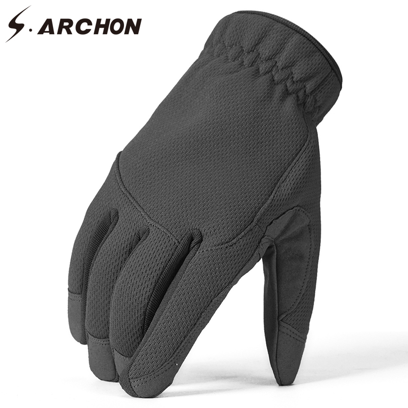 S.ARCHON Winter Warm Tactical Camouflage Gloves Men Camo Full Finger Military Mittens Male Army Paintball Thermal Bicycle Gloves