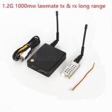 FPV LawMate 1.2GHz 1.2G 1000mW 8Ch Wireless Video Transmitter and Receiver long range For QAV250 F450 Drone airplane DJI SJ7000