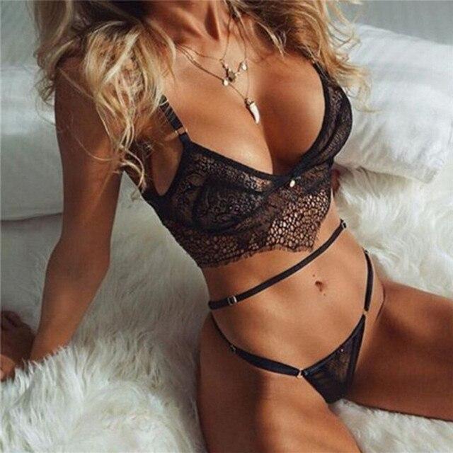 505ca0d101 young women underwear set push up bra and panty set transparent bra  romantic temptation lace bra set