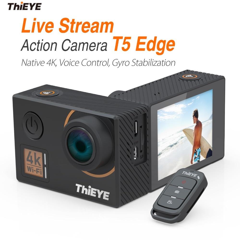 ThiEYE T5 Bordo Con Streaming In Diretta Cam Reale 4 k Ultra HD Macchina Fotografica di Azione con Gyro Stabilizzatore, controllo vocale Subacquea Macchina Fotografica di Sport