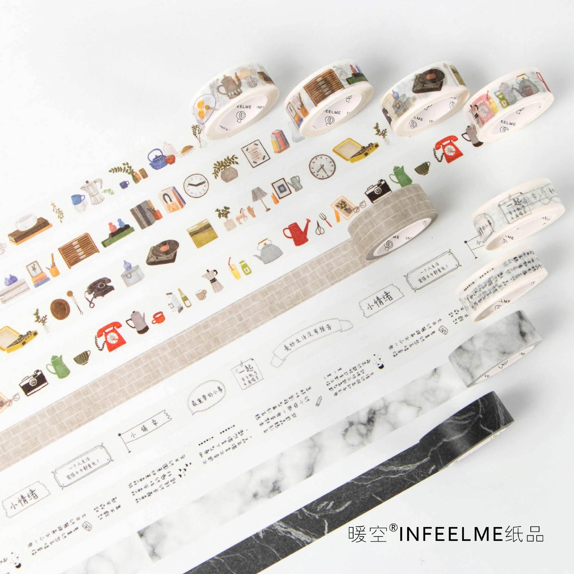 20 Pcs/lot DIY Japanese Paper Decorative Adhesive Tape Cartoon 100 Kinds Of Life Washi Tape/Masking Tape Stickers Size 15mm*7m