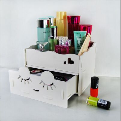 Sensational Home Desktop Diy Wooden Storage Box For Cosmetics Makeup Interior Design Ideas Skatsoteloinfo