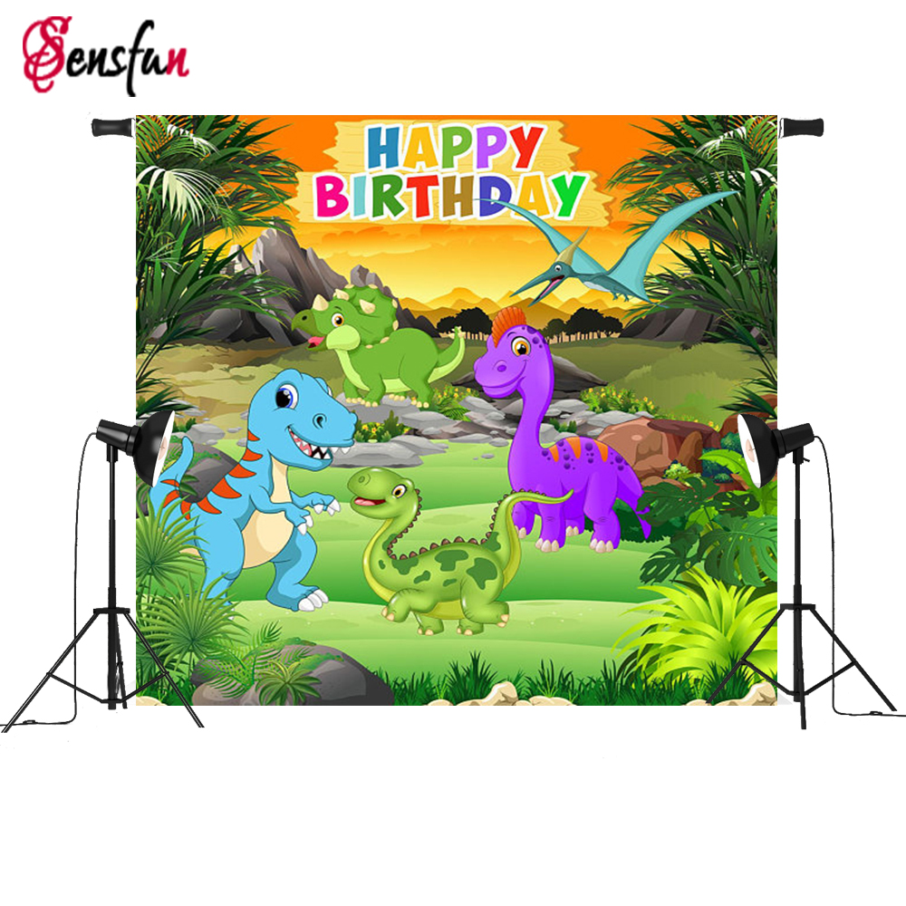 Vinyl Jurassic Park Dinosaur Birthday Party Custom Photo Background Studio Photography Backdrop 7x5ft sensfun where the wild things are dessert table backdrops custom photo studio backdrop background vinyl 7x5ft
