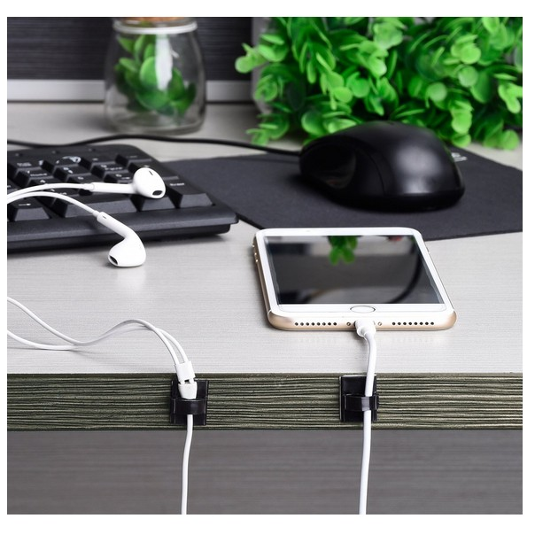 KEITHNICO 20Pcs Adhesive Cable Clips Cable Wire Management Wire Holder Clamps Cable Tie for Car Home Office