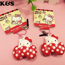 Mini cute hello kitty squishy toys kawaii rare bow doll 5pcs lot wholesale dot red sweet.jpg 250x250