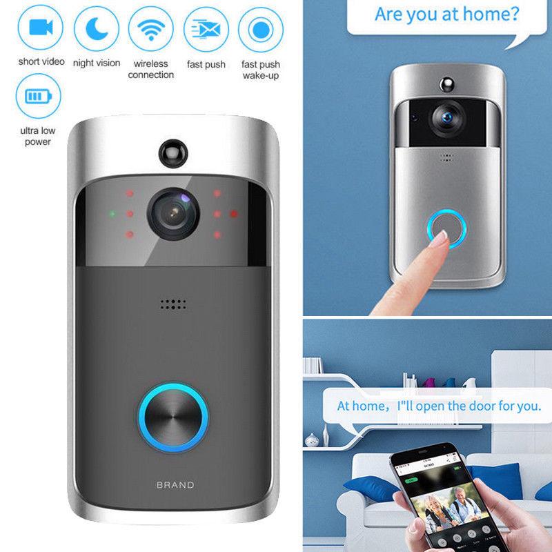 Wireless WiFi Doorbells Visual Ring Intercom Secure Camera Smart Video Phone Door Prevent thieves