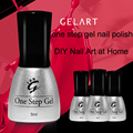 3 in 1 One Step UV Nail Gel Nail Polish Soak Off Manicure Lacquer Varnish with Tool Kit Sanding File