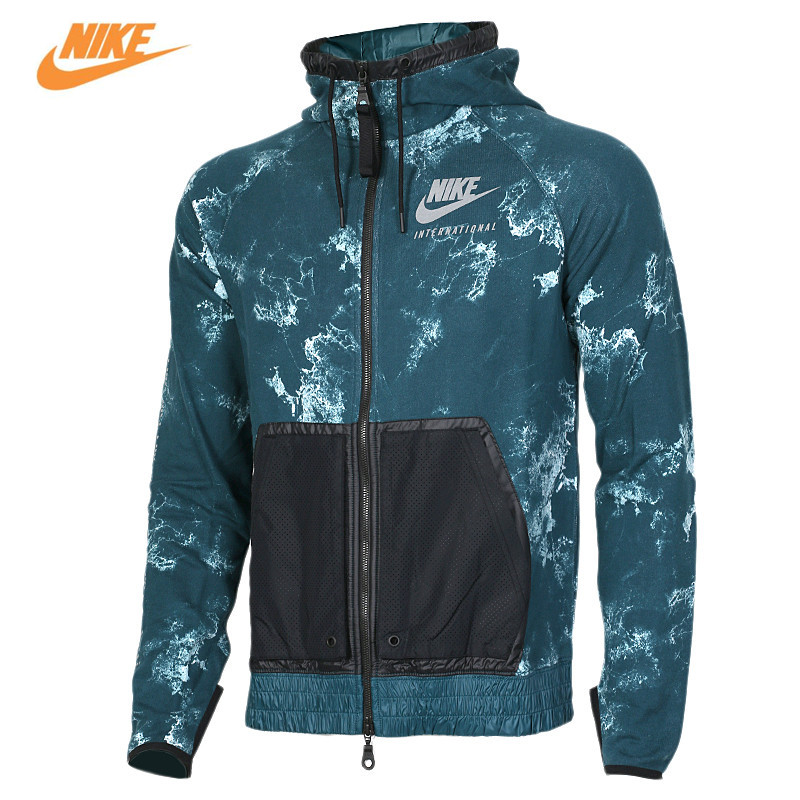 Nike Men's Spring Sports Knitted Hooded Jacket 802368-346 nike nike fuelband sports bracelet battery cover green m