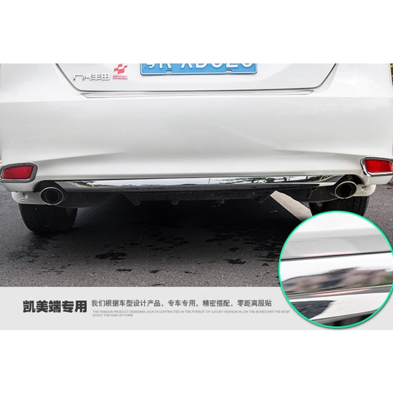 цена на Rear bumper chrome trim Rear Guard stickers Bumper strip high-qual For Camry trim For Toyota Camry