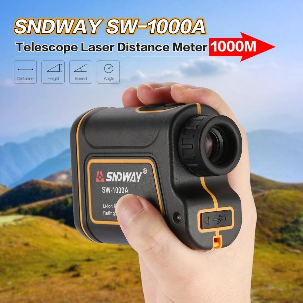SNDWAY télescope télémètre Laser 1000m télémètre Laser 7X monoculaire Golf chasse Laser télémètre ruban à mesurer SW-1000A