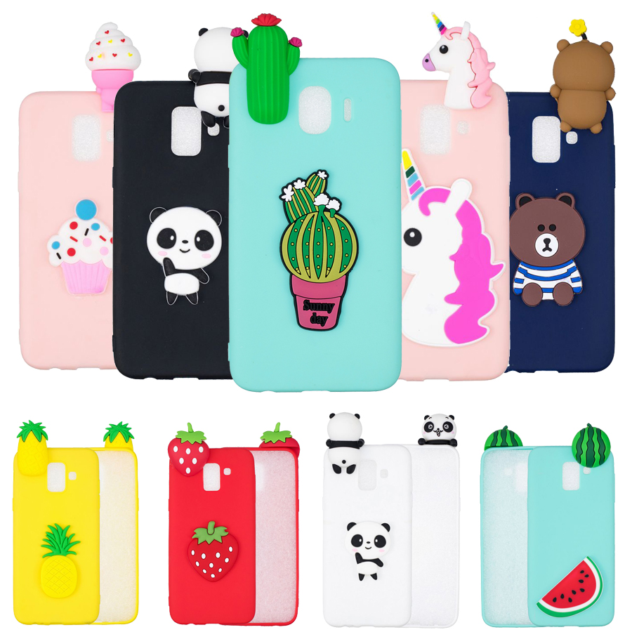 J4 Plus case cover For Samsung Galaxy J4 J6 Plus case For Coque Samsung J4 2018 Back cover 3D Unicorn Panda Silicone Soft cases