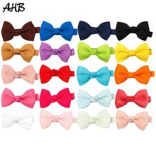 AHB 20pcs/lot Hair Accessories 2 Bows with Clips for Girls Handmade Small Bowknot Hairgrips Party Kids Barrettes Headwear